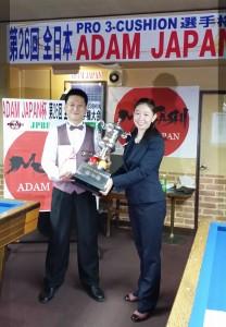 第26回全日本プロ3C選手権大会ADAM  JAPAN杯結果