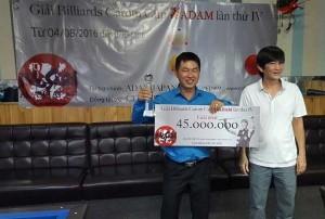 2016年第4回ベトナム アダム3C トーナメント優勝は Ma Minh Camプロ