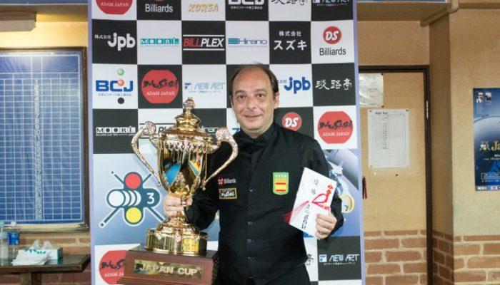 28th 3-CUSHION JAPAN CUP Daniel SANCHEZ選手優勝