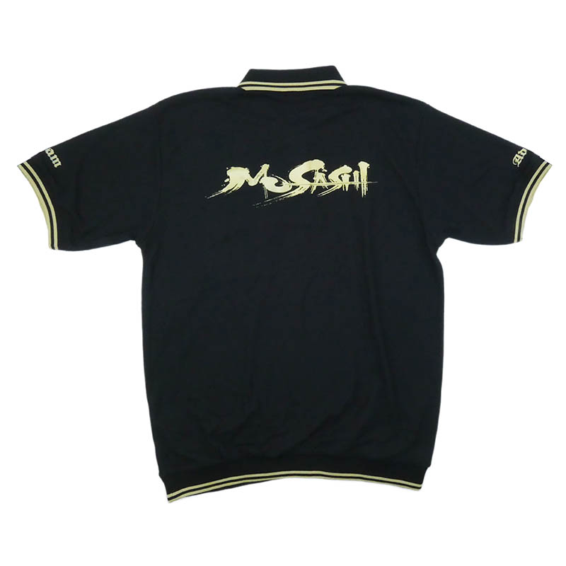 Musashi ポロシャツ(半袖、黒)