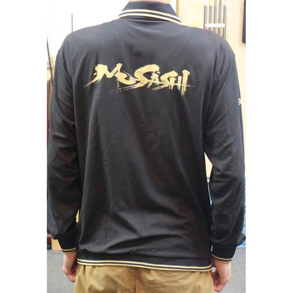 アダムジャパン・Musashi ポロシャツ・ブラック、長袖