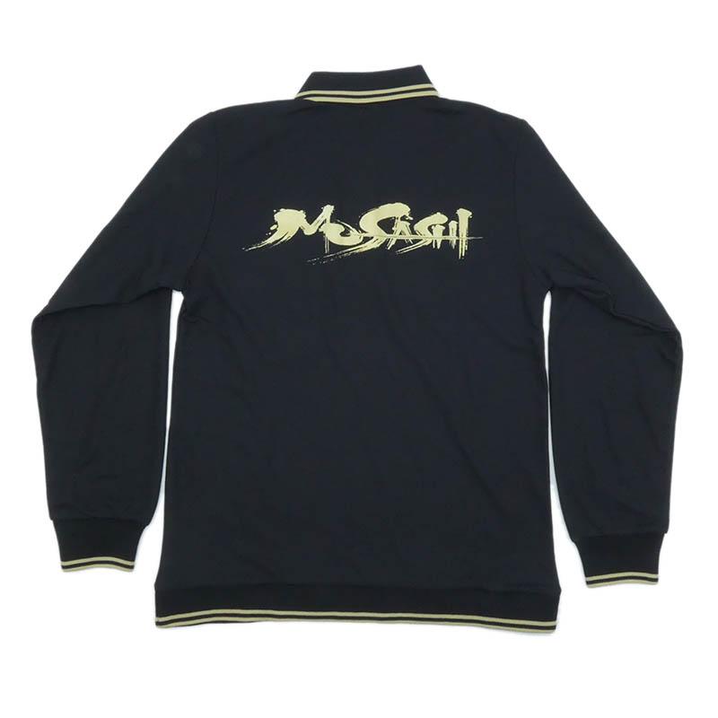 Musashi ポロシャツ(長袖、黒)