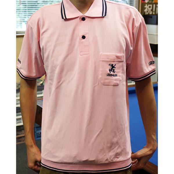 アダムジャパン・Musashi ポロシャツ・ピンク、半袖